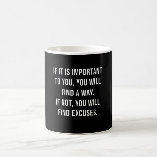 Typografische motivierend Zitat-Tasse Kaffeetasse
