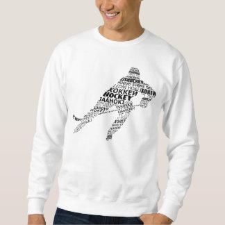 Typografisches Hockey-SprachSweatshirt Sweatshirt