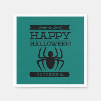 Typografisches Retro Halloween Papierserviette