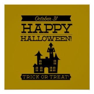 Typografisches Retro Halloween Poster