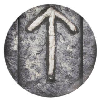 Tyr - Tiwaz (T) Melaminteller