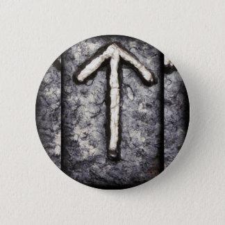 Tyr - Tiwaz (T) Runder Button 5,1 Cm