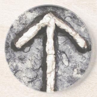 Tyr - Tiwaz (T) Sandstein Untersetzer