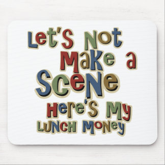 Tyrann-Mittagessen-Geld lustig Mousepad