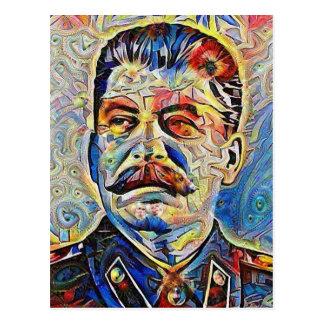 Tyrann-Reihe #2: Albtraum Stalin Postkarte
