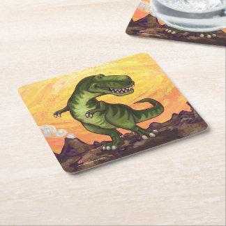Tyrannosaurus-Geschenke u. Zusätze Kartonuntersetzer Quadrat