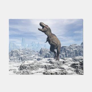 Tyrannosaurus im Schnee - 3D übertragen Türmatte