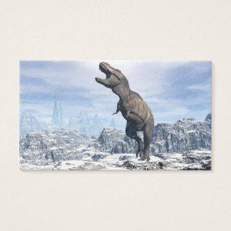 Tyrannosaurus im Schnee - 3D übertragen Visitenkarte