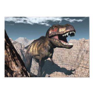 Tyrannosaurus rex, das in einer Schlucht brüllt 12,7 X 17,8 Cm Einladungskarte