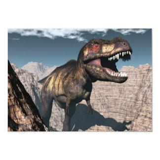 Tyrannosaurus rex, das in einer Schlucht brüllt Karte