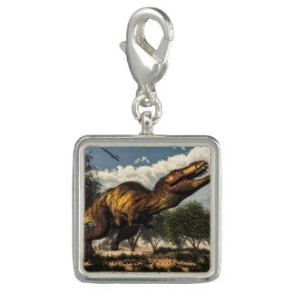 Tyrannosaurus rex Dinosaurier, der seine Eier Charm