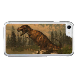 Tyrannosaurus rex Dinosaurier in Angriff genommen Carved iPhone 8/7 Hülle