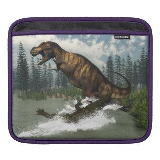 Tyrannosaurus rex Dinosaurier in Angriff genommen Sleeve Für iPads