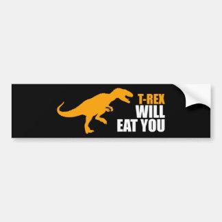 Tyrannosaurus Rex isst Sie Autoaufkleber