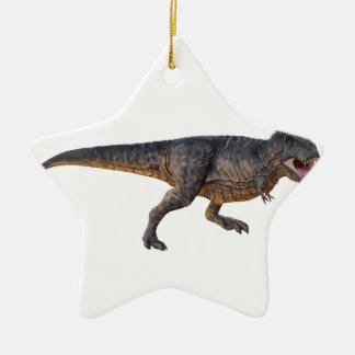 Tyrannosaurus-Rex mit gelbem Farbton Keramik Ornament