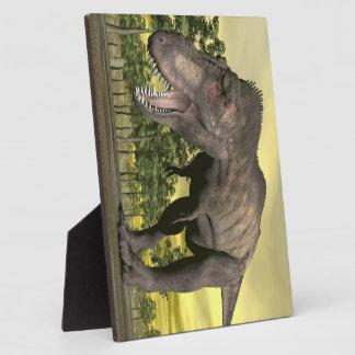 Tyrannosaurus verärgert - 3D übertragen Fotoplatte
