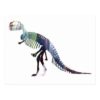 Tyrannosaurusskelett Postkarte