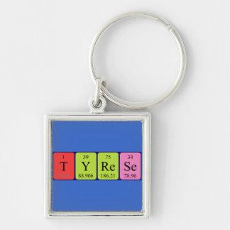Tyrese Periodensystem-Namenschlüsselring Schlüsselanhänger