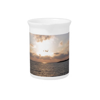 Tyrrhenisches Meer, Sonnenuntergang Krug