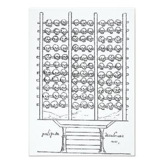 Tzompantli Schädel-Gestell-Kodex Duran 12,7 X 17,8 Cm Einladungskarte