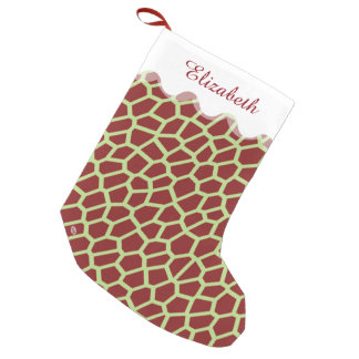 U-Auswahl Farbbrown-Giraffen-Druck in der Kleiner Weihnachtsstrumpf