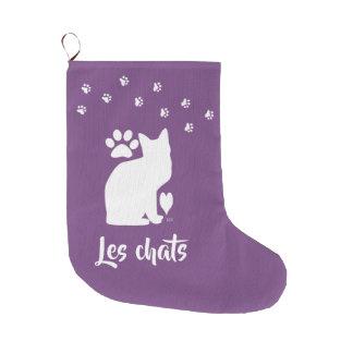 U-Auswahl FarbeName-Katzen-Strumpf Großer Weihnachtsstrumpf