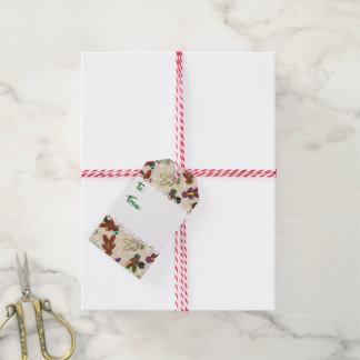 U-Auswahl Farblebkuchen-Leute u. Schneeflocken Geschenkanhänger