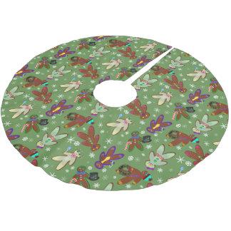 U-Auswahl Farblebkuchen-Leute u. Schneeflocken Polyester Weihnachtsbaumdecke
