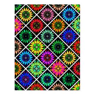 U-Auswahl-Farbleuchtende Einklebebuch-Blumen auf Postkarte