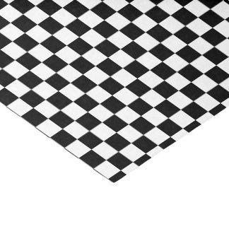 U-Auswahl Farbschwarz-karierte Fliesen Seidenpapier