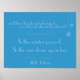 u. die Sonne geglänzt auf ihr (Tolkein Poster