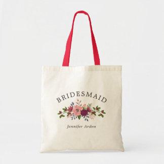 U. erröten Burgunder-Blumen, die Brautjungfer Tragetasche