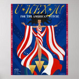 U-HEXE eine Zeitschrift Poster