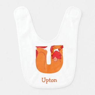 U ist für Uakari Baby-Schellfisch Babylätzchen
