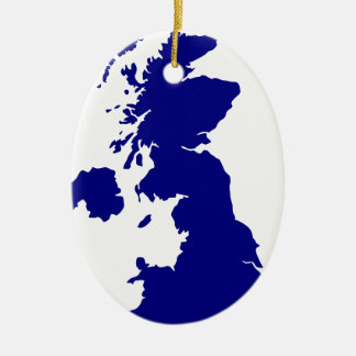 U.K. und Nordirland-Silhouette Keramik Ornament
