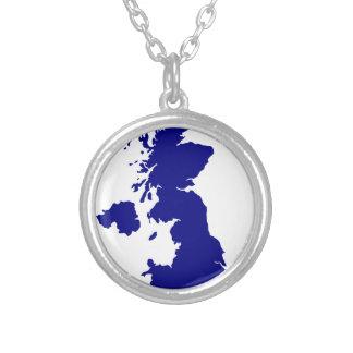 U.K. und Nordirland-Silhouette Versilberte Kette