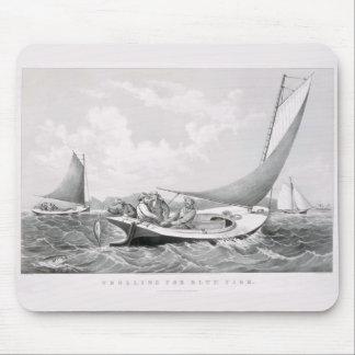 u., 'mit der Schleppangel fischen für bluefish Mousepads