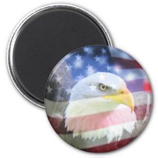 U.S.A. Eagle u. Flagge Magnets