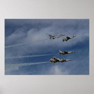 U.S.A.F.thunderbirds-Deltabruch Poster