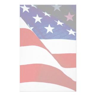 U.S.A. Flagge Briefpapier