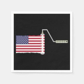 U.S.A. Flaggen-Farben-Rolle Serviette