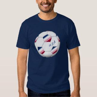 """""""U_._S_._A."""" Soccer ball. Ball des Fußballs von T Shirt"""