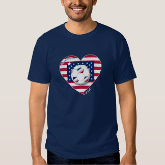 """U_._S_._A."" Soccer Team. Fußball der Unidos. Shirt"