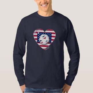 """U_._S_._A."" Soccer Team. Fußball der Unidos. Tshirt"