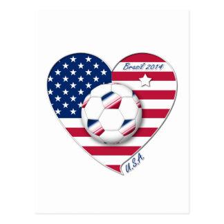 """""""U_._S_._A."""" Soccer Team Fußball von den Postkarte"""