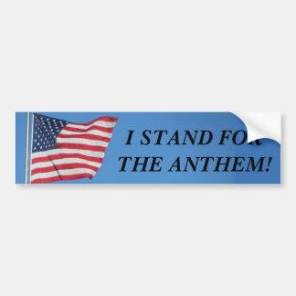 U.S.A. Stand der Flaggen-I für die Hymne Autoaufkleber