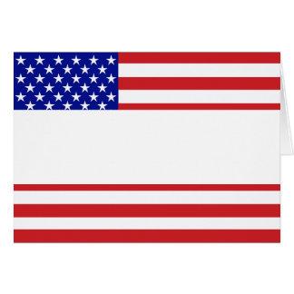 U.S. Flagge - schreiben Sie Ihren eigenen Text Karte