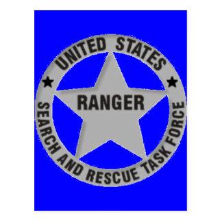 U.S. Förster-Suche und Rettung Postkarte