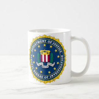 U.S. JUSTIZMINISTERIUM - FBI KAFFEETASSE