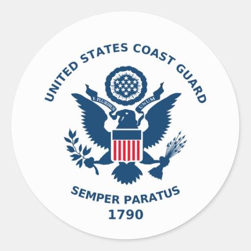 U.S. Küstenwache-Parade Runder Sticker